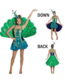 Costume de paon pour femme
