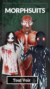 Déguisements Seconde Peau Horreur, déguisements morphsuits halloween: vampires, zombies, monstres...
