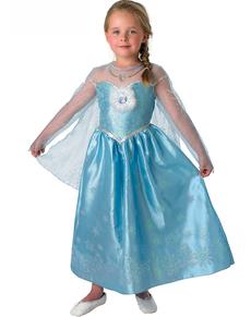 Déguisement Elsa la Reine des Neiges Deluxe fille