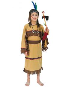 Déguisement d'indienne marron pour fille