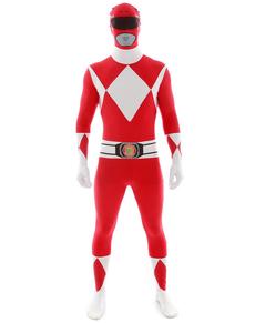 Déguisement Power Rangers Rouge Morphsuit