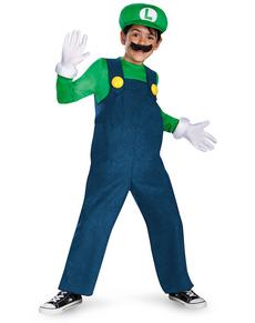 Costume de Luigi prestige pour garçon