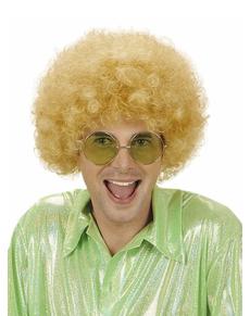 Perruque blonde frisée