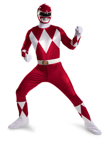 Costume Power Rangers Mighty Morphin rouge prestige homme