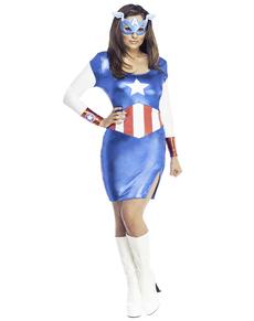 Robe costume  American Dream Marvel classique  femme