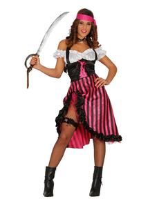 Déguisement pirate rose femme