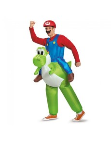Déguisement Mario Bros ride on Yoshi adulte