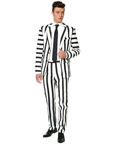 Costume Striped Black and White Suitmeister